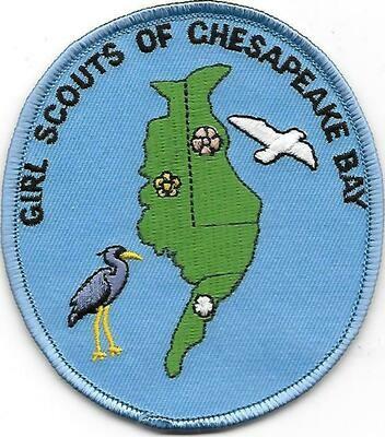 Chesapeake Bay (Girl Scouts of) council patch (DE)