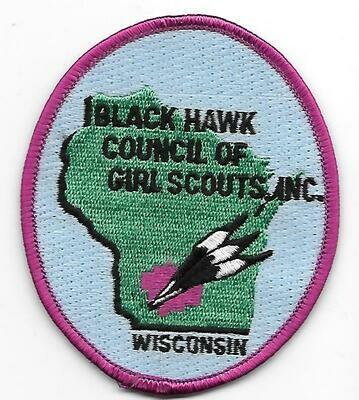 Black Hawk Council of GS Inc  council patch (Wisconsin)