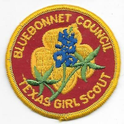 Bluebonnet Council Texas GS council patch (Texas)