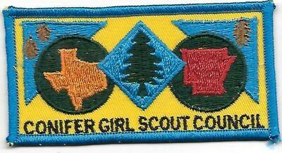 Conifer Council GSC council patch (Arkansas)