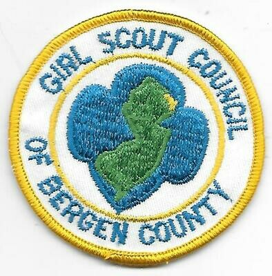 Bergin County (Girl Scouts of)  council patch (New Jersey)