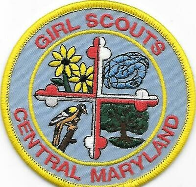 Central Maryland (GS) council patch (MD)