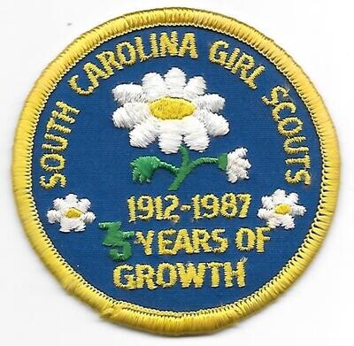 75th Anniversary Patch SC Girl Scouts