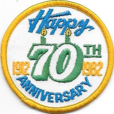 70th Anniversary Patch Generic