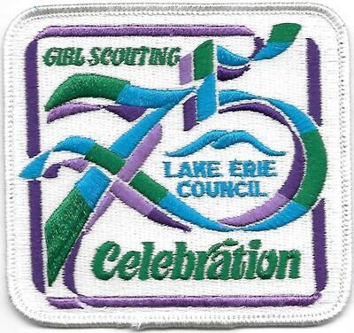 75th Anniversary Patch Lake Erie council