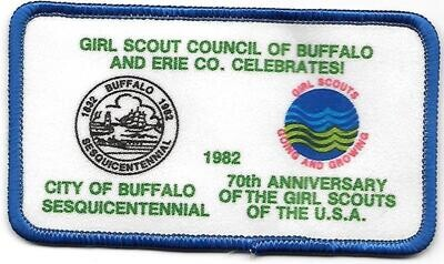 70th Anniversary Patch Buffalo and Erie County NY