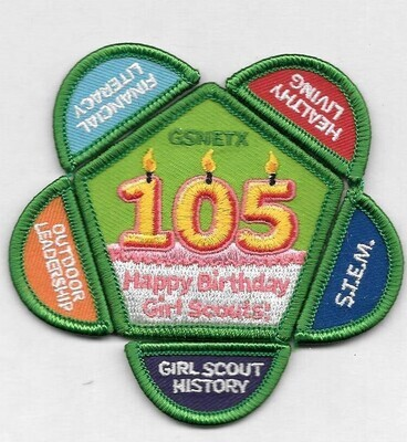 105th Anniversary Patch Set NE Tx