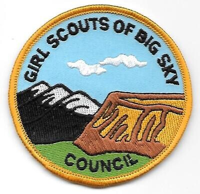 Big Sky Council (Girl Scouts of)  council patch (Montana)