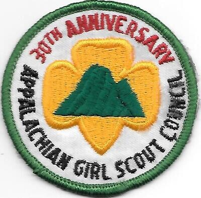 Appalachian GSC 30th anniversary council patch (Tennessee)