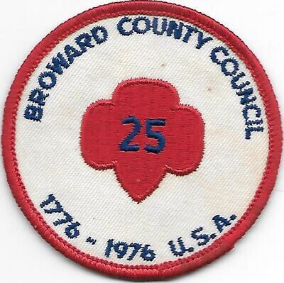 Broward County Council 25th anniversary patch (Florida)