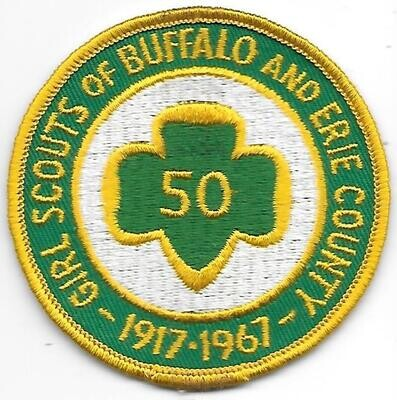 Buffalo & Erie County 50th anniversary council patch (NY)