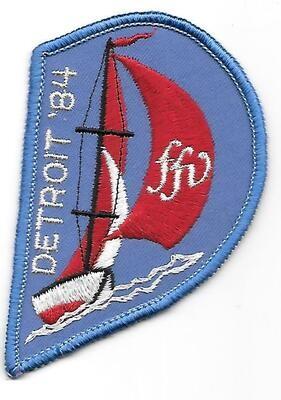 43rd Convention Detroit Patch 1984 (sail)