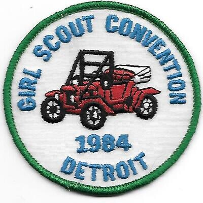 43rd Convention Detroit Patch 1984 (round)