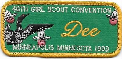 46th Convention Name Tag Patch 1993 (Dee)