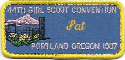 44th Convention Name Tag Patch 1987 (Pat)