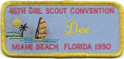 45th Convention Name Tag Patch 1990 (Dee)