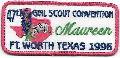 47th Convention Name Tag Patch 1996 (Maureen)