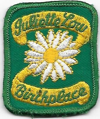 Birthplace patch (older, green background)