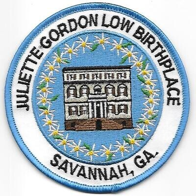 Birthplace patch (tan house)