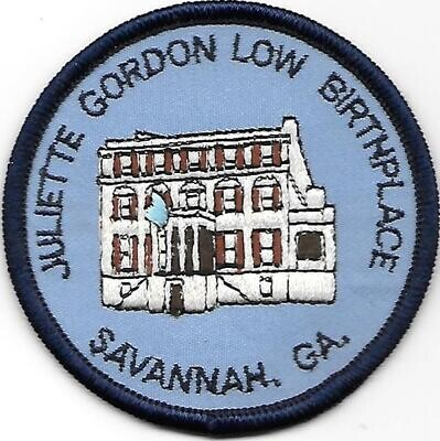 Birthplace patch (house white on bottom)