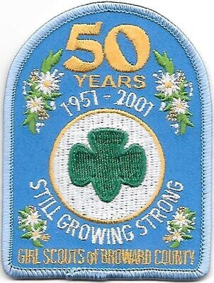 Broward County (GS of) 50th anniversary council patch (Florida)