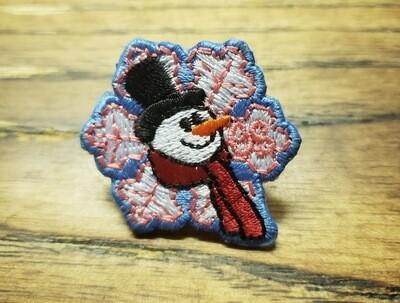 Snowman Patch Pin