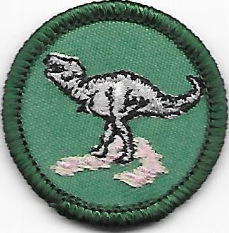 Dinosaur Wagon Wheel Council own Junior Badge (Original)