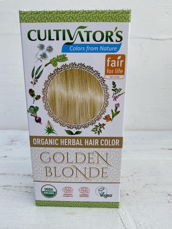 Organic Herbal Hair Color - Golden Blonde