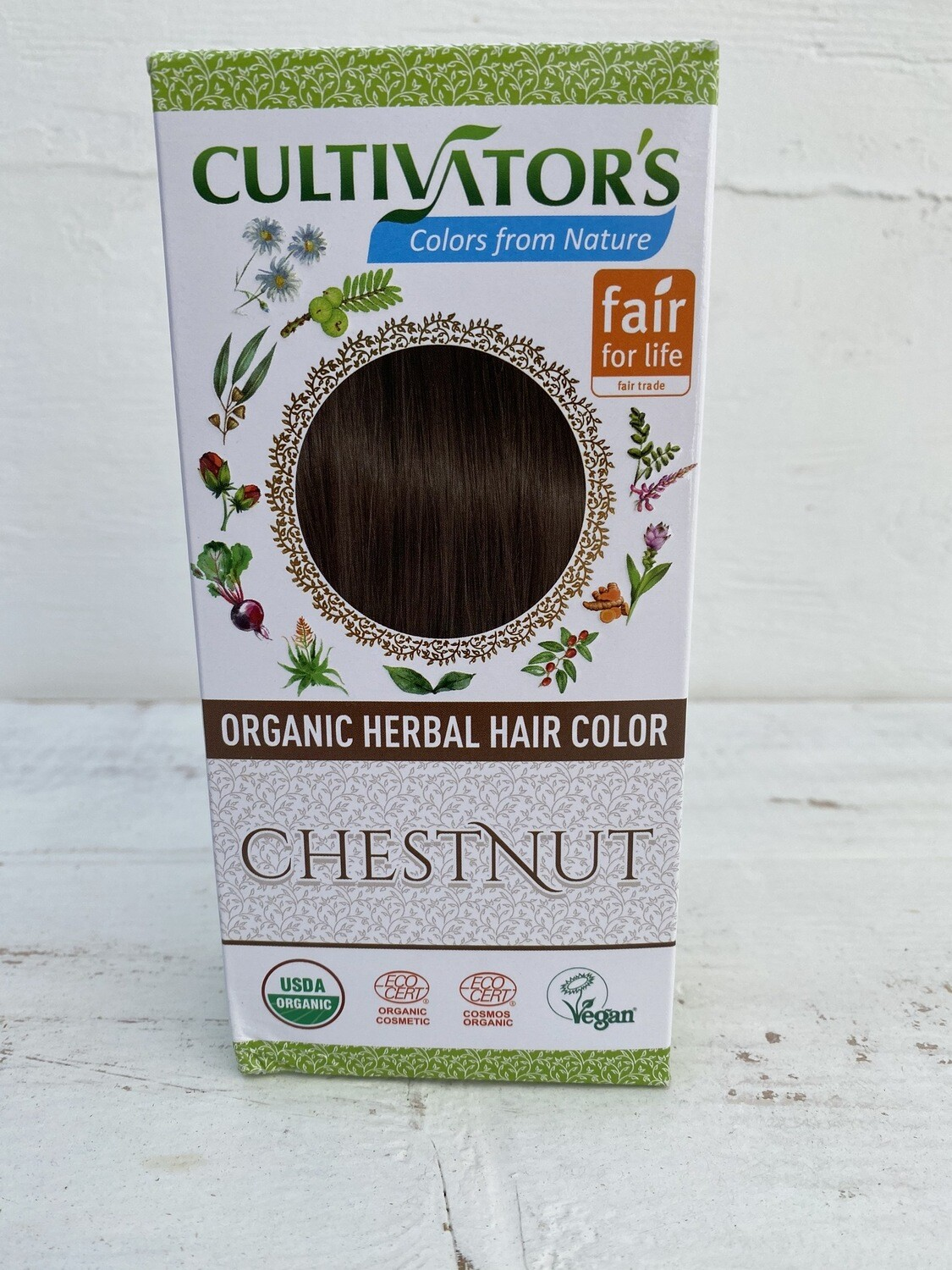 Organic Herbal Hair Color - Chestnut