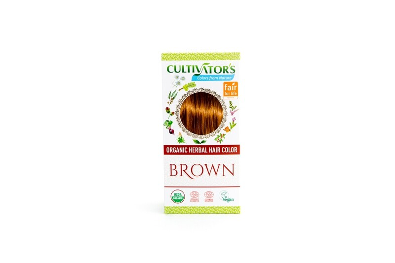 Organic Herbal Hair Color - Brown