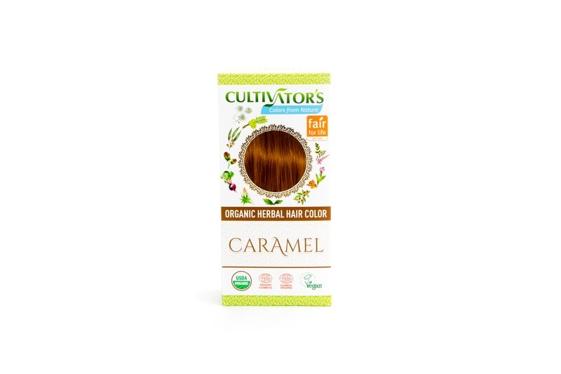 Organic Herbal Hair Color - Caramel