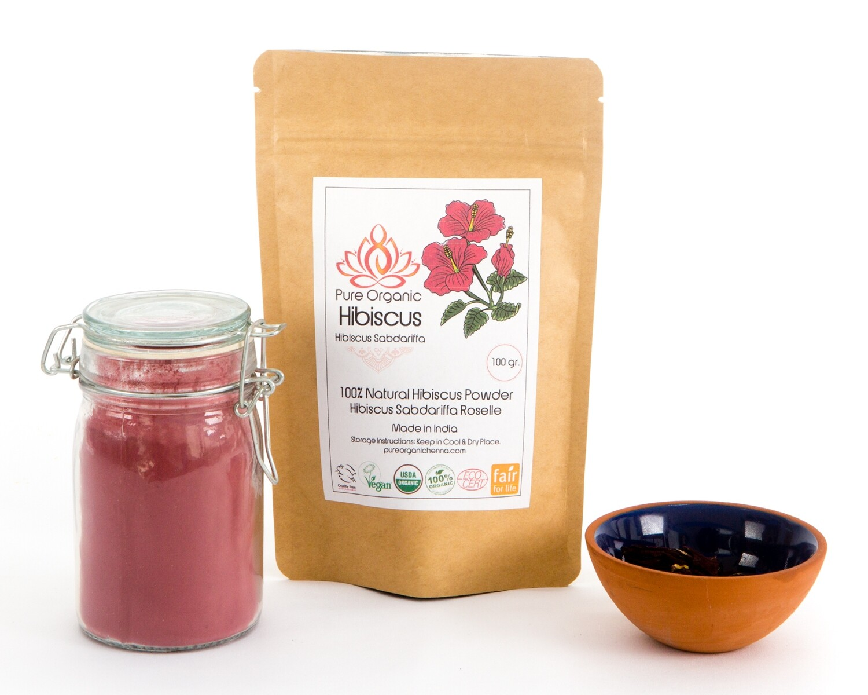 Pure Organic Hibiscus Powder