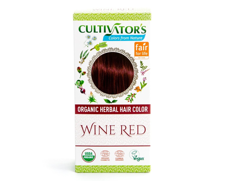 Organic Herbal Hair Color - Wine Red