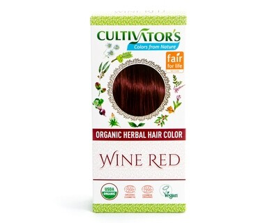 Organic Herbal Hair Color - Wine Red