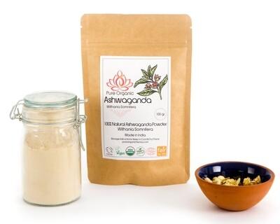 Pure Organic Ashwaganda Powder