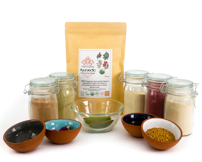 Pure Organic Ayurvedic Herbal Hair Mask