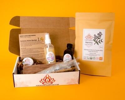 Pure Organic Henna DIY KIT Professional