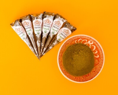 Pure Organic Henna Cones x6