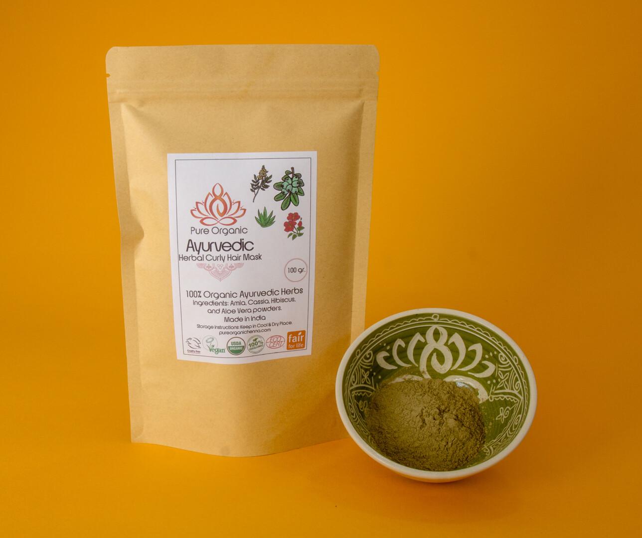 Pure Organic Ayurvedic Herbal Curly Hair Mask