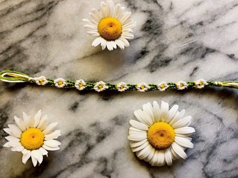 Green Daisy Bracelet (Free with $5 Donation)
