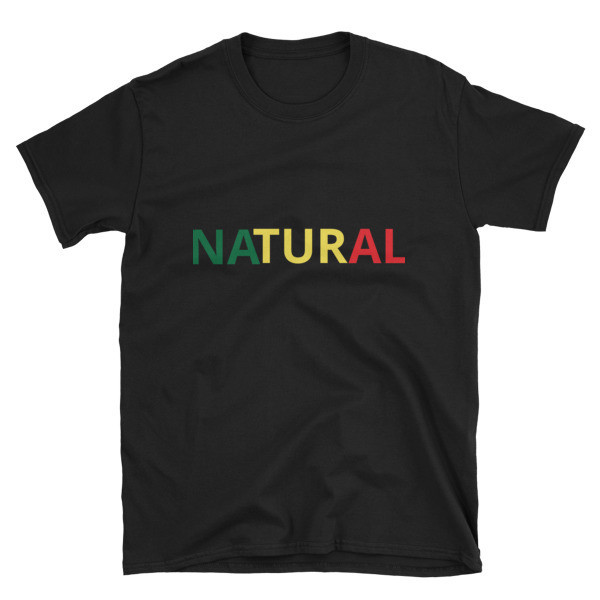 """Short-Sleeve Unisex """"Natural"""" T-shirt"""