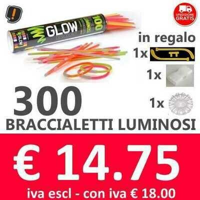 🔥 Braccialetti Luminosi 300 pz SPEDIZIONE GRATIS