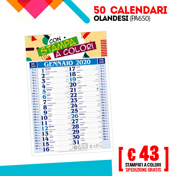 ✔ Calendari Olandesi Personalizzati 50/100 pz SPED GRATIS