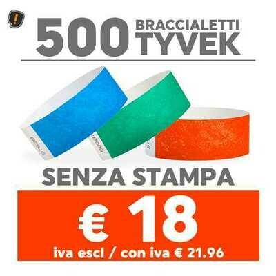 500 Braccialetti Tyvek® SPEDIZIONE GRATIS