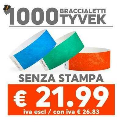 🔝 1000 Braccialetti Tyvek® SPEDIZIONE GRATIS
