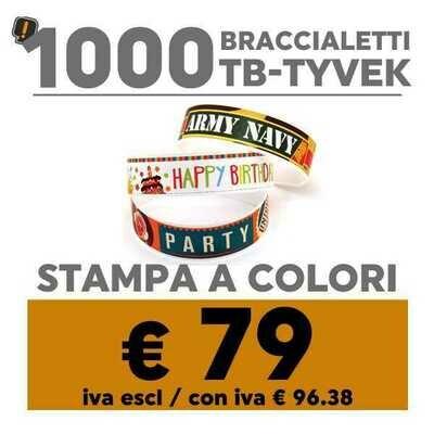 🔝 1000 Braccialetti TB-Tyvek® Stampa a Colori | SPEDIZIONE GRATIS
