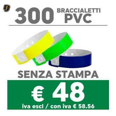 🔝 300 Braccialetti Pvc - SPEDIZIONE GRATIS