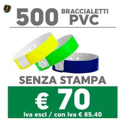 🔝 500 Braccialetti Pvc - SPEDIZIONE GRATIS