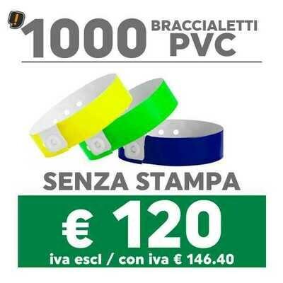 🔝 1000 Braccialetti Pvc - SPEDIZIONE GRATIS