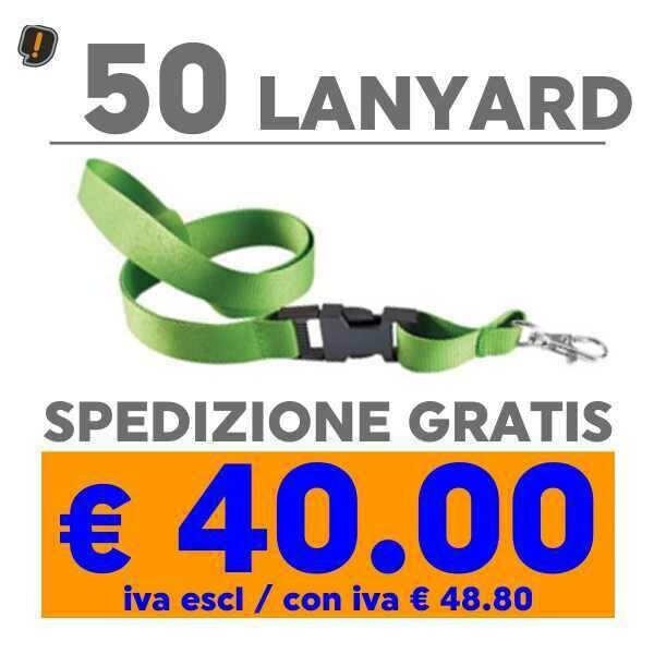 Lanyard 50 pz SPEDIZIONE GRATIS
